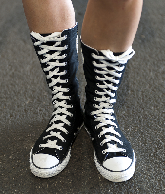 Old school canvas riding boots by Converse - MotoGeo