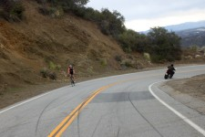 Quick bike swap and now we ride the famous Mulholland Highway