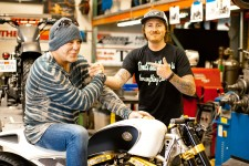 Mickey Rourke gets Roland Sands to build his dream machine