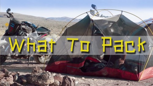 What to Pack for a Moto Adventure