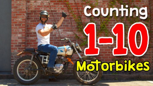 Counting 1-10 Motorbikes